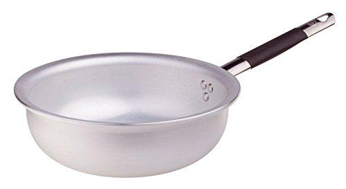 Pentole Agnelli Mantecare Padella Salta Pasta e Riso, Radiante, in Alluminio, Spessore 5 mm, con Manico Tubolare in Acciaio Inossidabile Cool, Argento, 32 cm