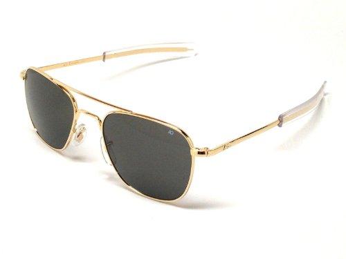 Ao American Optical Original Pilot Sunglasses Gold 55Mm Bayonet Temples