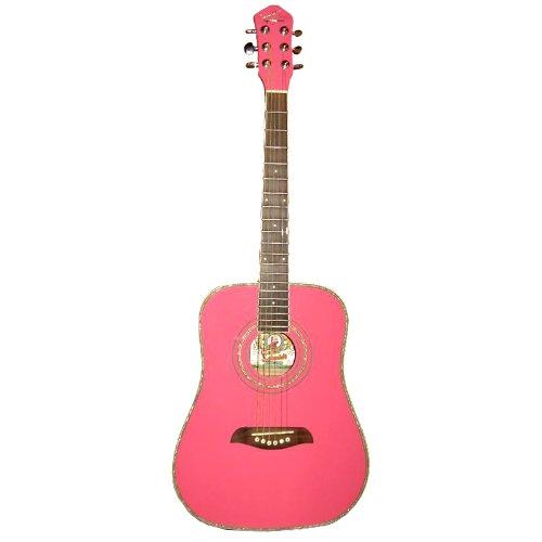 buy cheap oscar schmidt og1p acoustic guitar pink on sale guitars. Black Bedroom Furniture Sets. Home Design Ideas