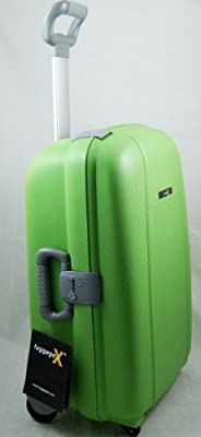 "Luggage X (E Series) - 80cm (32"") Hard Sided Green Polypropylene Trolley Suitcase - NEXT DAY DELIVERY*"