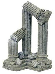 Resin Ornament - Three Column Ruins Corner Section