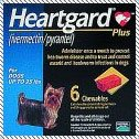 Heartgard Plus Heartworm for Dogs 0 - 25 lbs 6 Chewables Exp: 09-2016