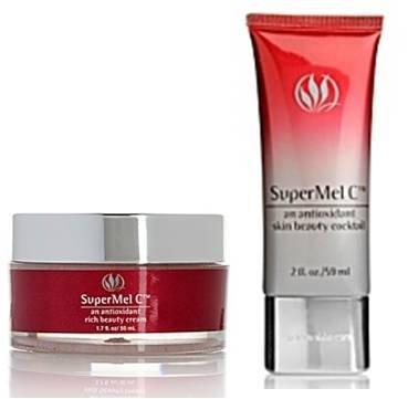 Serious Skincare Super Mel C Antioxidant Duo ~ Rich Beauty Cream & Skin Beauty Cocktail