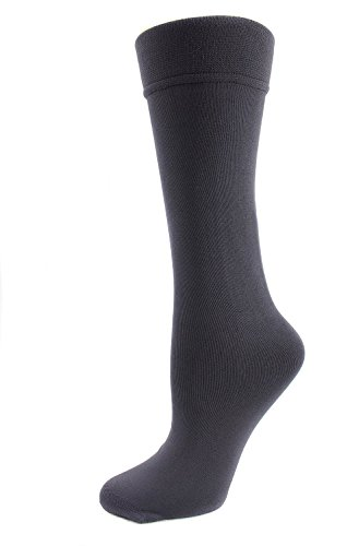 Plush Fleece Lined Knee High Socks for Women One Size 9-11 Microfiber (Gray) (Plush Boot Liner compare prices)