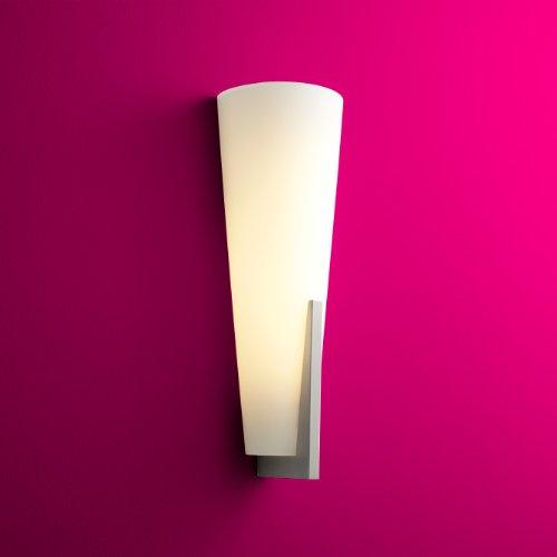 Cool Oxygen Lighting Songbird Wall Sconce ADA White Opal Glass Satin Nickel