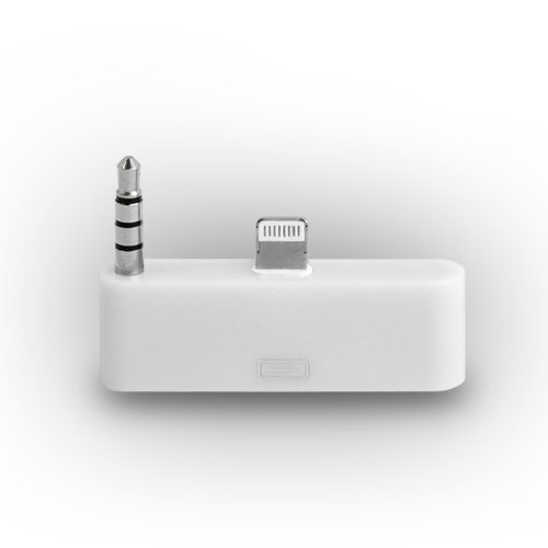 GadgetinBox™ - (White) 8 Pin to 30 Pin Audio Converter Adapter Connector Docking For Apple iPhone 5 5S 5C iPod Touch 5