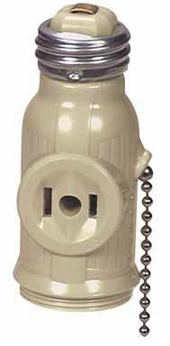 Cooper Wiring 718V-Box Pullchain Socket Adapter, Ivory