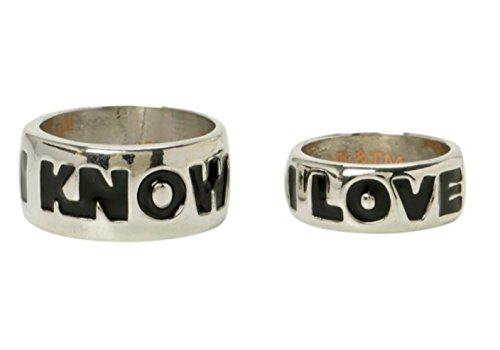 "Star Wars ""I Love You"" ""I Know"" His And Hers Ring Set Jewelry"