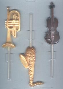 Musical Instruments Pop Candy Molds