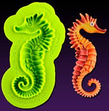 Seahorse Silicone Mold by Marvelous Molds