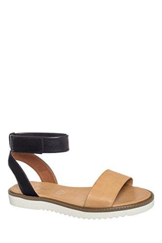 Jaguar Ankle Strap Flat Sandal