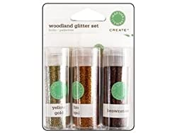 Martha Stewart Glitter Set w/Glue Woodland
