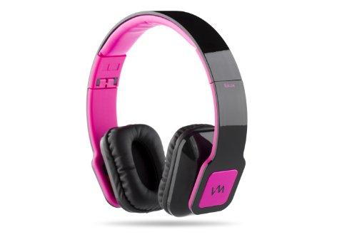 Vm Audio Elux On Ear Dj Stereo Mp3 Iphone Ipod Bass Headphones Piano Black Pink