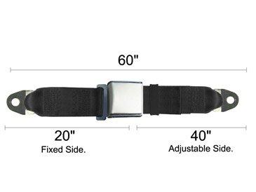 Universal Seat Belt, Replacement Lap Seatbelt, Satin Lift Latch, Tan, 60 Inch, T front-832008