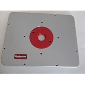 Best seller router table in 2012 the woodpecker cast aluminum router plate is stronger stiffer and less prone to warp or flex then other aluminum polycarbonate or acrylic router plates greentooth Image collections