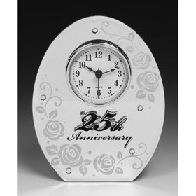 25th Silver Wedding Anniversary Clock. Perfect 25th Silver Wedding Anniversary Gift 25th Silver Wedding Aniiversary Gifts
