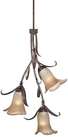 franklin iron works intertwined lilies multi light pendant. Black Bedroom Furniture Sets. Home Design Ideas
