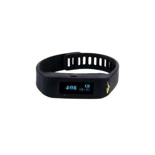 腕時計 Everlast TR1 Black Wireless Sleep/ Fitness Activity Tracker Watch with LED Display [並行輸入品]