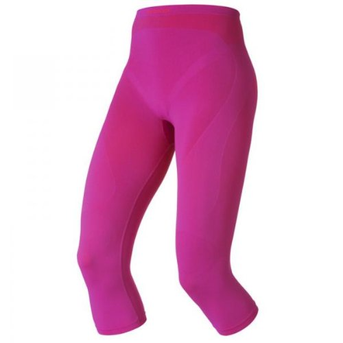 Odlo Women's Evolution Warm 3/4 Baselayer Pant: Violet Pink