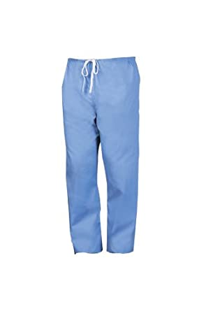 Worklon 899XS Polyester/Cotton Unisex Scrub Pant with Drawcord Closure, Ciel Blue, X-Small