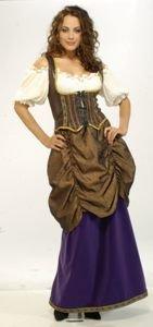 Women X-Large (18-20) Designer Collection Fancy Renaissance Wench Costume for Women