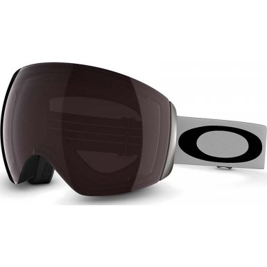 Oakley Flight Deck Ski Goggles, Light Gray/Prizm Black Irid