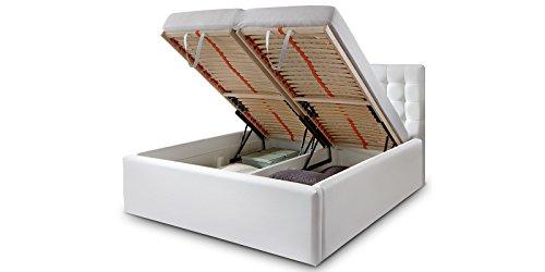 Luxus-Polsterbett-mit-Bettkasten-Molly-XXL-Kunslederbett-Doppelbett-Ehebett-Wei-180x200cm