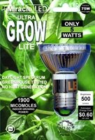 Led Ultra Grow Light Bulb - 65 Watt Equivalent, Uses 5 Watts - 2 Pack