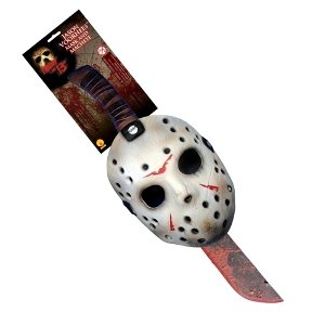 Jason Mask and Machete Set Halloween Accessory