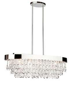 Artcraft Lighting Ac10112 Elegante 5 Light Crystal Linear Chandelier - 12 Inches, Chrome