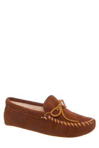 Minnetonka Men's Traditional Pile Lined Softsole Mocassin Flat Shoe