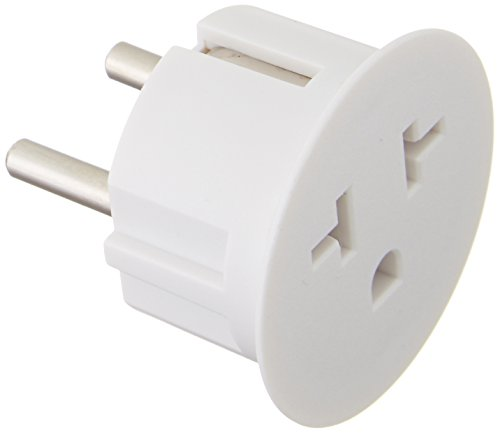 6PKSCHUKO Heavy Duty Grounded USA American to European German Schuko Outlet Plug Adapter - 6 Pack (German Plug Adapter compare prices)