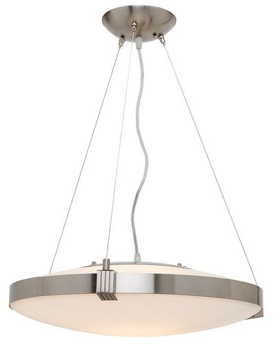 Access Lighting 50102BSOPL Luna Bowl Large Pendant, Brushed Steel