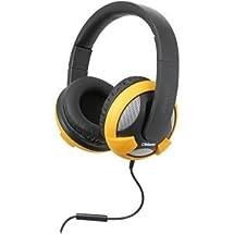 SYBA Multimedia Oblanc U.F.O. Yellow Stereo Headphone w/In-line Microphone [OG-AUD63045] -