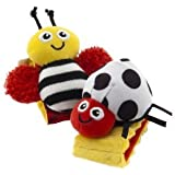 Toy Game Lamaze High Contrast Wrist Rattles w/ High Contrast Colors And Patterns Stimulate Baby's Vision Kid Child Play
