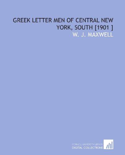 Greek Letter Men of Central New York, South [1901 ]