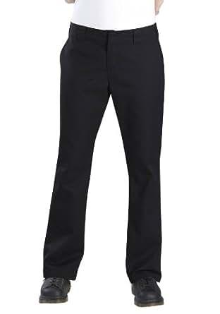 Dickies Womens Boyfriend Boot Cut Pant,Black,14 RG
