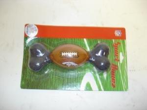 NEW! NFL Licensed Denver Broncos Sport Bone Dog Toy
