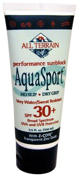 All-Terrain Aqua Sport Performance Sunscreen Very Water/Sweat Resistant SPF 30, 3 Ounce