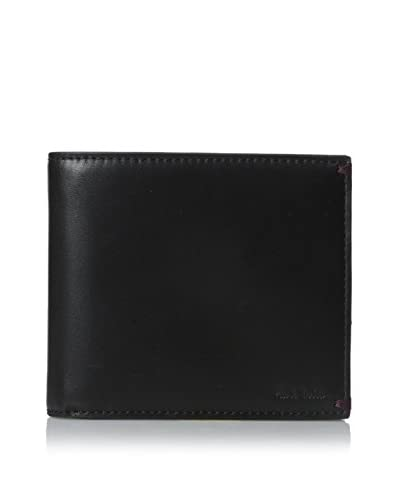Paul Smith Men's Leather Billfold Wallet, Black