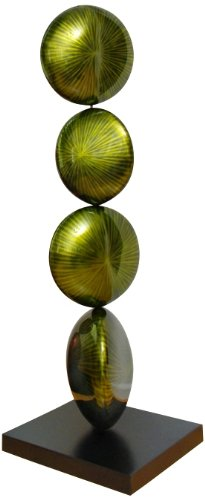 LAMPS PLUS Spherical Suspense Green Art Sculpture