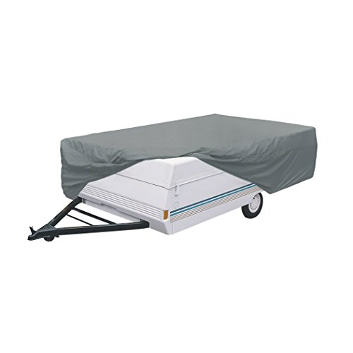 Classic Accessories OverDrive PolyPRO 1 Pop-Up Camper Trailer Cover, Fits 12' - 14' Trailers - Breathable and Water Repellant RV Cover (74403) (Pop Up Camper Trailer Part compare prices)