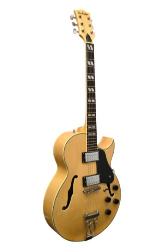 "Glen Burton Ge775-Chic-Nt ""Chicago"" Hollowbody Electric Guitar, Natural"