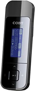 Coby MP320-4G USB-Stick MP3 and FM Radio Player with LCD Display (Black)