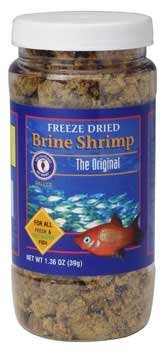 San Francisco Bay Brand ASF71120 Freeze Dried Brine Shrimp for Fresh and Saltwater Fish, 39gm
