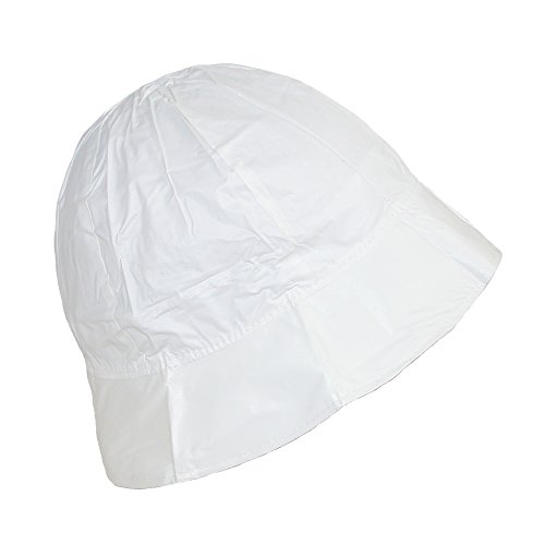 shedrain-womens-waterproof-vinyl-packable-rain-hat-white