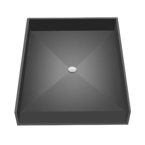 Tile Redi 4837CBF-PVC Shower Pan 48x37 Barrier Free Shower Pan With Integrated Center PVC Drain