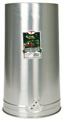 Little Giant Metal Poultry Feeder Tube with Hanging Handle, 40-Pound (Chicken Feeder Pan compare prices)