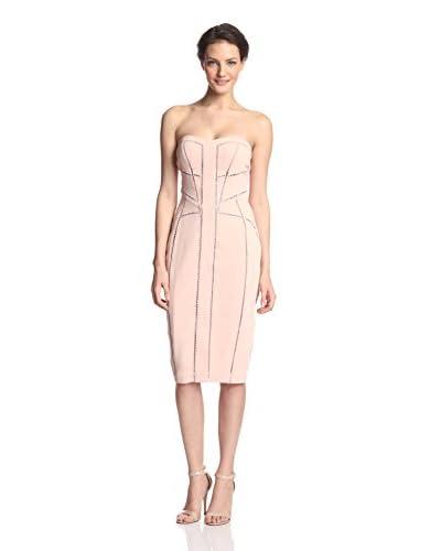 Aijek Women's Borderlines Strapless Dress