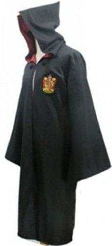 SIMON Harry Potter Gryffindor Unisex Adult Robe Cloak Cosplay Costume Fancy Dress S